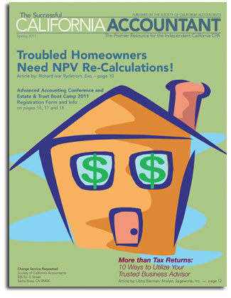 CA HAMP NPV Calculation Rich Rydstrom So CAL Attorney SCA-Mag-Spring-11_cover Rydstrom NPV HAMP reCALC