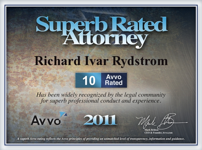 CA Avvo Rich Rydstrom Orange County Lawsuits Disputes Attorney Rich Rydstrom avvo 10 10 sub 2011 foreclosure mod denial litigation